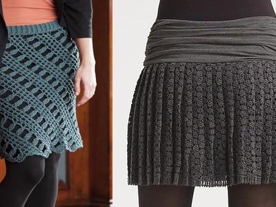 Faldas mujer tejidas a crochet o ganchillo diseños