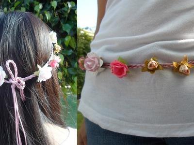 Guirnalda de flores.Corona de flores