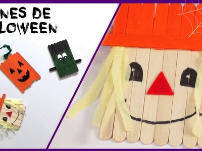 Imán espantapájaros para la nevera - Manualidades de Halloween para niños