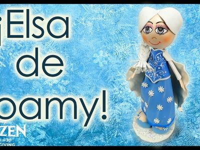 ¡Princesa Elsa de Foamy!, Tutorial Frozen Manualidades