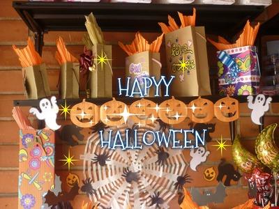 Manualidades para Halloween:COMO  hacer GUIRNALDAS para  HALLOWEEN - CREA MANUALIDADES