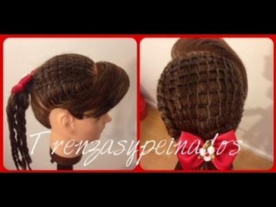 Peinado Fácil para Niña, Tejido Zig Zag - Easy Girls Hairstyle, Zig Zag Weave