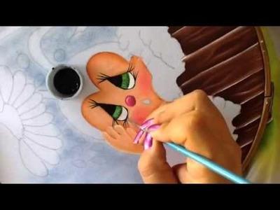 Pintura en tela mariquita #4 con cony