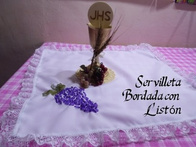 Servilleta Bordada con Listón