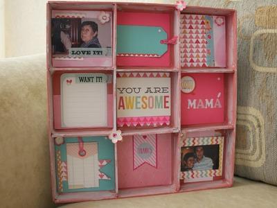 Shadow Box - Día de las madres - Scrapbook