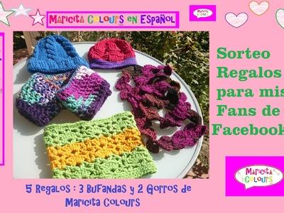 Sorteo de premios con mis seguidores del Facebook Maricita Colours