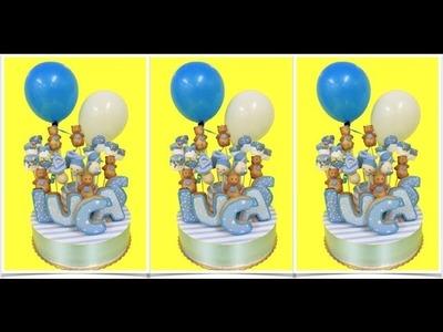 Stand para cupcakes o cake pops con globos