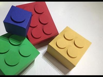 TUTORIAL Cajitas de Lego.DIY Lego Boxes Fácil