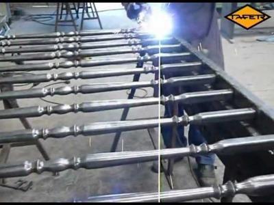 Videotutorial: Como hacer una baranda de hierro con tubos ornamentales - www.tafer.com