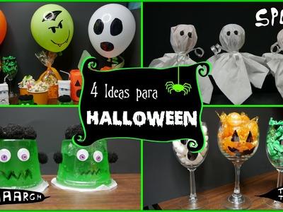 4 Manualidades Sencillas para Halloween - DIY - Parte 1 - Mi Cocina Rápida