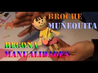 Broche De Muñequita Muy Lindo - Rapido Facil Y Sin Complicaciones | Manualidades Gomaeva