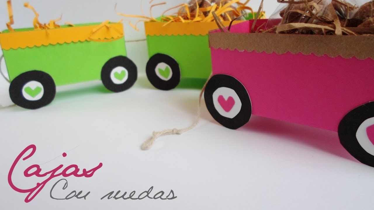 Cajas con ruedas || Paper Crafting ||