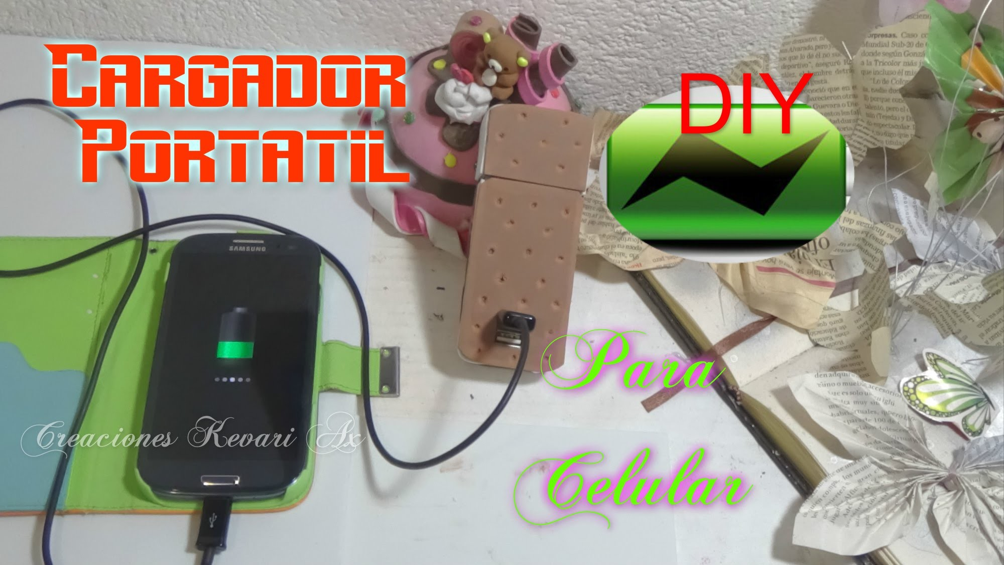 Cargador Portátil Casero para movil Celular USB DIY.How to make a portable cell phone charger