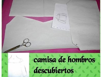 COMO HACE UNA CAMISA DE HOMBROS DESCUBIERTOS