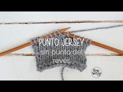 Cómo tejer el punto jersey o liso con sólo derechos