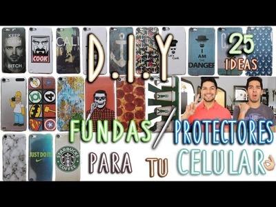 DIY: 25 FUNDAS PARA CELULAR TUMBLR | FÁCIL Y RÁPIDO