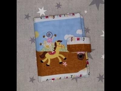 DIY Carpeta tela niños - peques para bolso