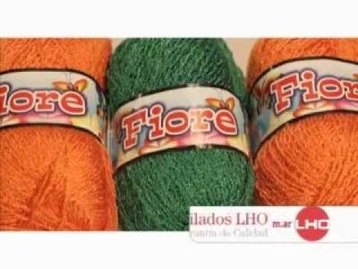 Hilados LHO: Chaleco tejido con flores.