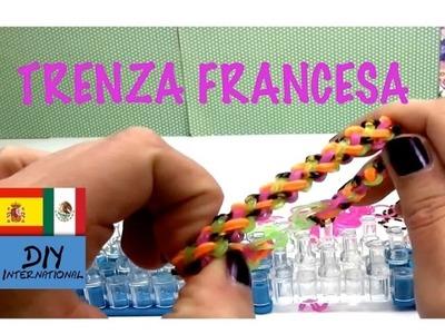 PULSERA DE GOMITAS TRENZA FRANCESA - TRENZA DOBLE  - TUTORIAL EN ESPAÑOL - DIY