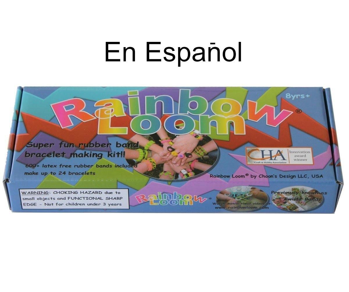 RAINBOW LOOM en ESPANOL - Como User el Telar de Brazalete - Pulsera de Gomitas - DIY