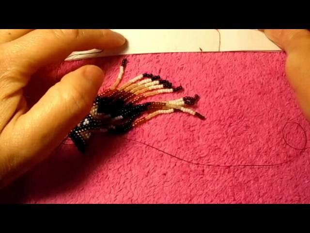 Brick stitch los aretes son bonitos pero muy diffisiles de hacer#6