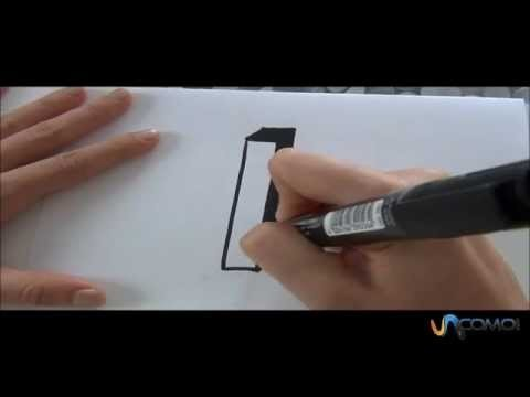 Cómo hacer la letra I en 3D - How to make the letter I in 3D
