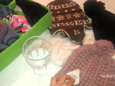 Cómo limpiar nuestros gorros y bufandas de lana | facilisimo.com