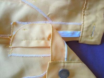 Coser cierre de cremallera a un pantalón