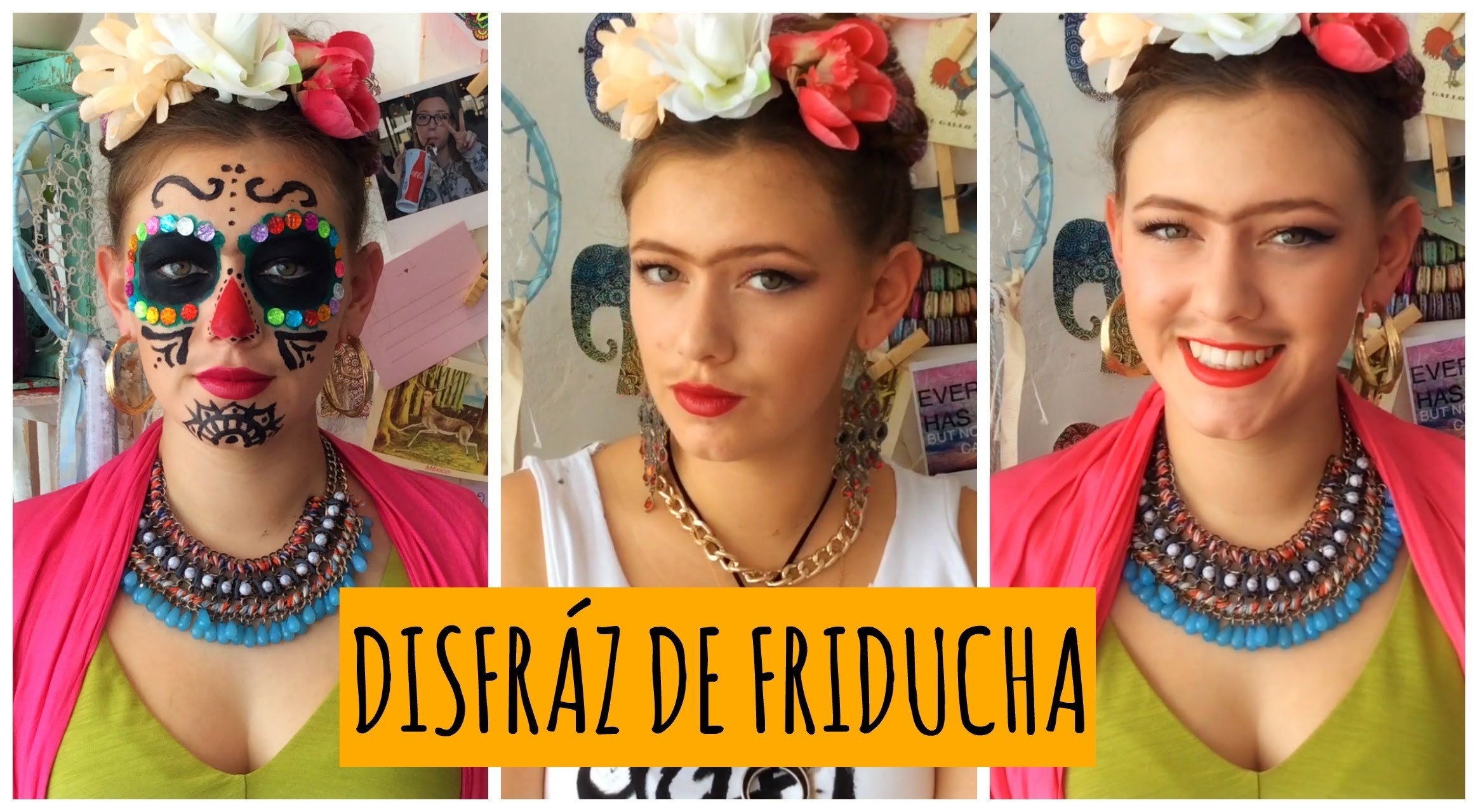 Disfrazate de Frida Kahlo | 3 ideas! | DIY