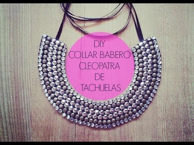 DIY collar babero cleopatra con tachuelas (Patrón gratis)