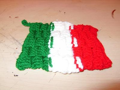 DIY Como tejer una agarradera de la bandera de México 1 de 2
