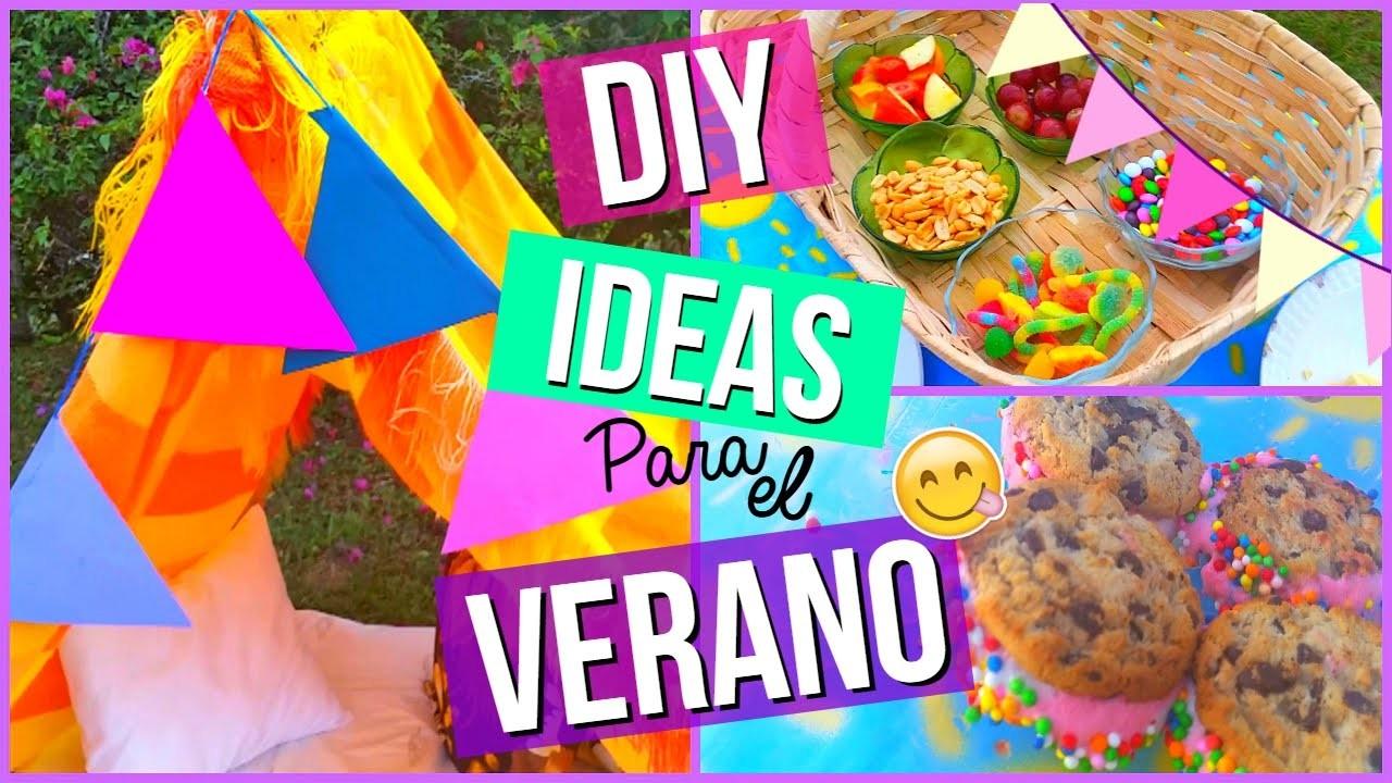 Ideas Para El Verano! DIY Snacks & Decor ☀