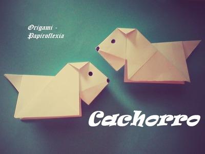 Origami - Papiroflexia. Cachorrito de papel muy fácil y rápido