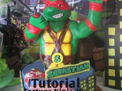 Pastel Tortuga Ninja En 3D Montaje y Decoración - Madelin's Cakes