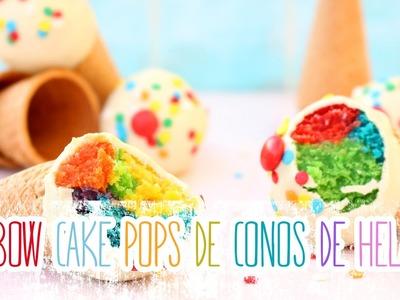 Receta: Rainbow Cake Pops de conos de helados