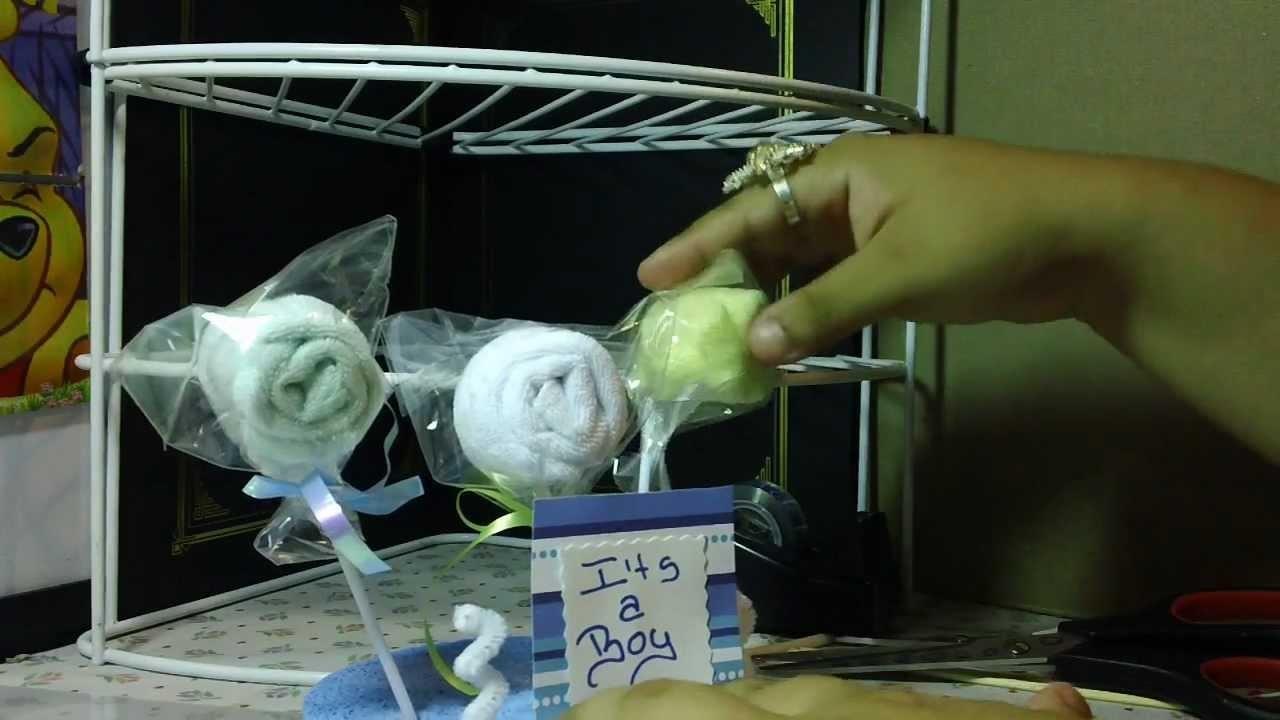 RECUERDO PARA  BABY SHOWER :tipo paletas