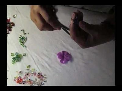 """Sandalias Decoradas """"Flores(Alohas) Paso a paso #2"""