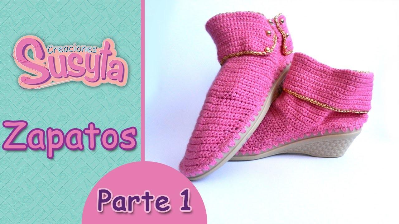 """Susyta Clases de Tejido """"Zapatos"""" Parte 1"""