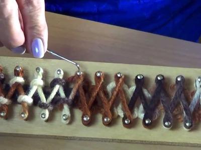 TELAR DE 74 CLAVOS SEGUNDA PARTE como tejer una bufanda