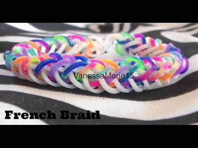 ♥Tutorial: Pulsera French Braid De Gomitas Rainbow Loom♥