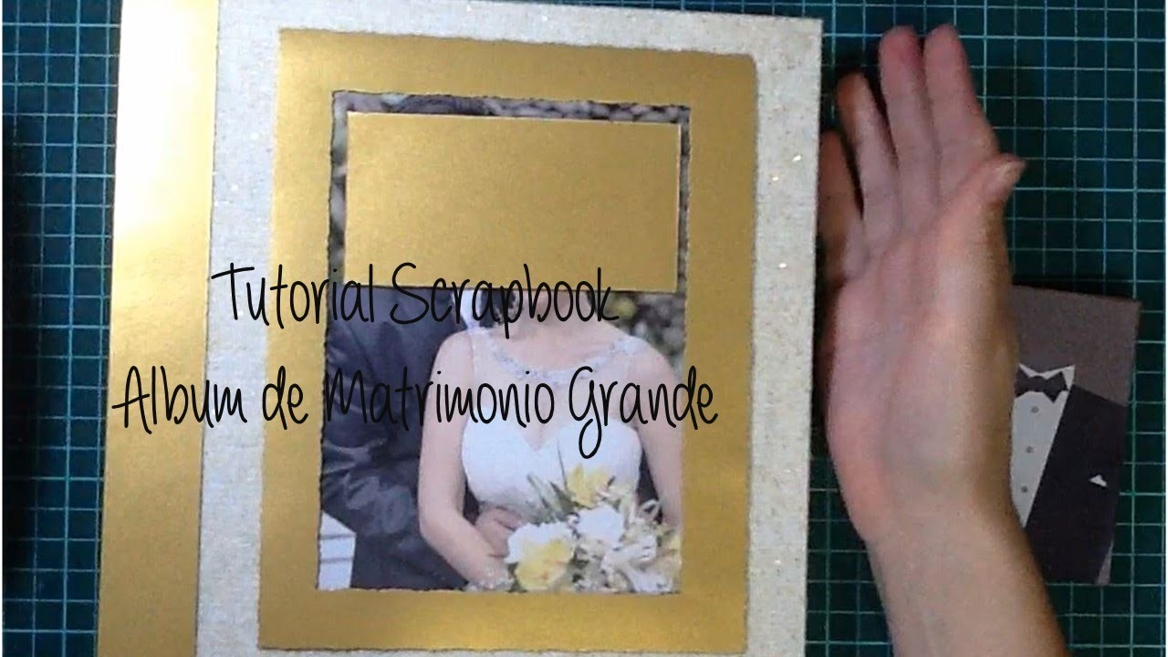Tutorial scrapbook: cómo hacer un álbum de matrimonio. wedding album DIY