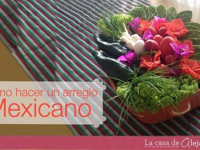 Arreglo de verduras para una fiesta mexicana - DIY Mexican centerpiece using vegies
