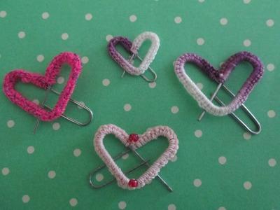 Clip en forma de corazón, heart paper clip