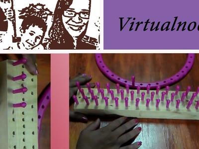 Como hacer telar para pulseras de bandas de goma