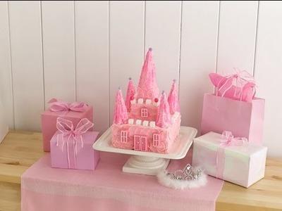 Cómo hacer un pastel con forma de castillo