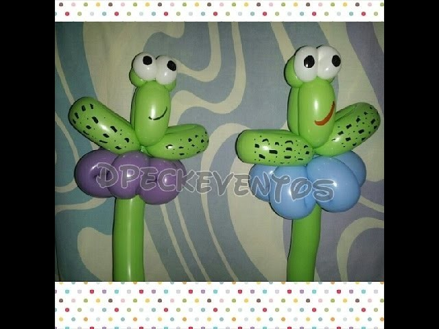 Como hacer una rana - How to make a frog balloons - tutorial