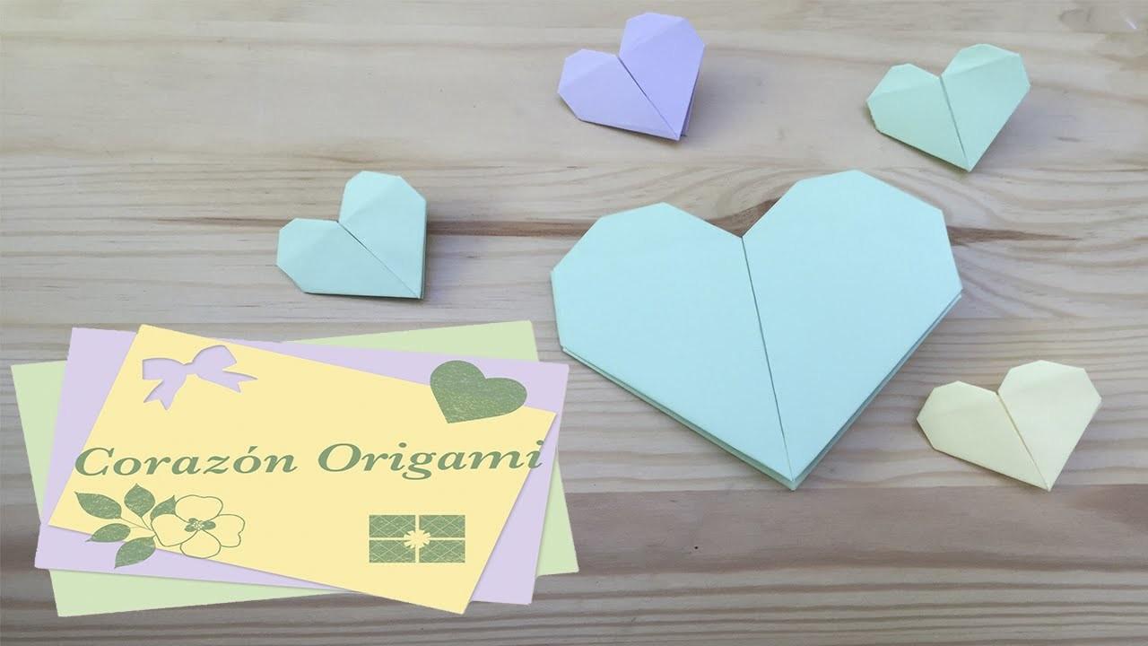 Corazón Origami. Mis básicos de Origami (papiroflexia) para proyectos Scrapbook #2