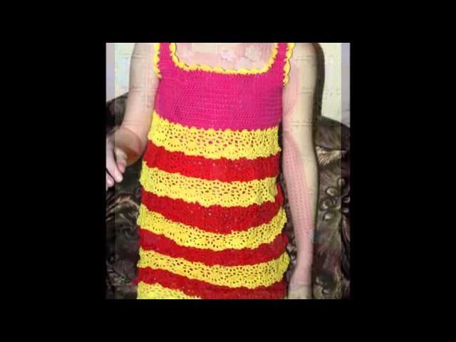 Diferentes Vestidos Tejidos A Crochet Para Niñas De 4 Años