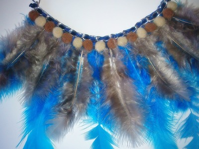 DIY: Collar babero con plumas, fieltro y cadenas