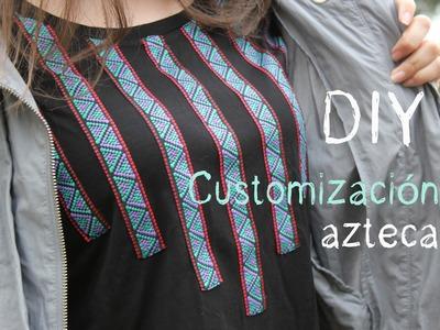 DIY Customizar una camiseta étnica
